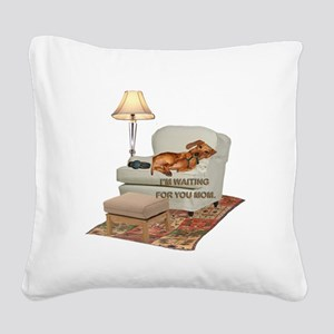 tig in chair MOM Square Canvas Pillow
