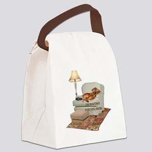 tig in chair MOM Canvas Lunch Bag