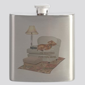 tig in chair MOM Flask