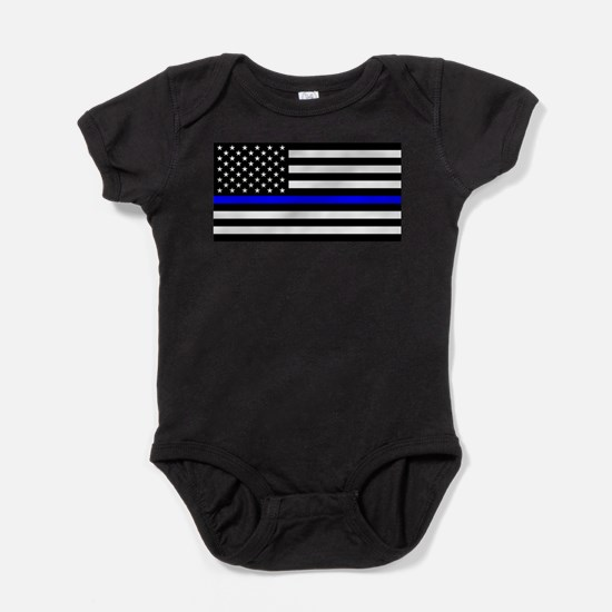 Blue Lives Matter US Flag Police Thin Bl Body Suit