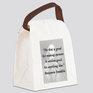 Franklin - Making Excuses Canvas Lunch Bag