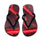 Hawaiian Red Veined Leaf 2 Flip Flops