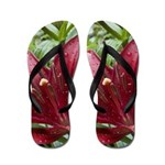 Red Asiatic Lily 2 Flip Flops