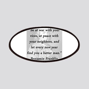 Franklin - War Peace Patch