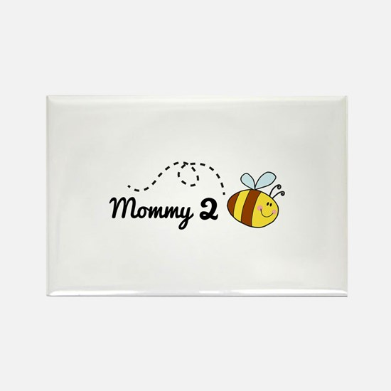 Mommy 2 Bee Rectangle Magnet