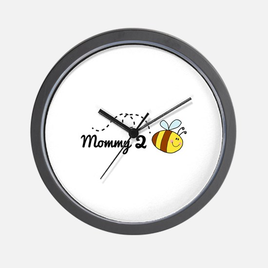 Mommy 2 Bee Wall Clock