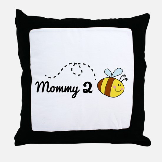 Mommy 2 Bee Throw Pillow
