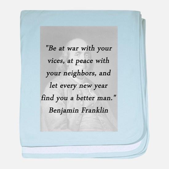 Franklin - War Peace baby blanket