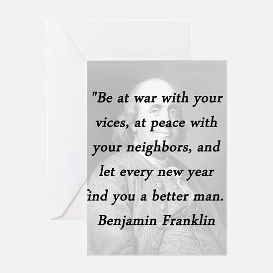 Franklin - War Peace Greeting Card