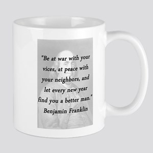 Franklin - War Peace 11 oz Ceramic Mug
