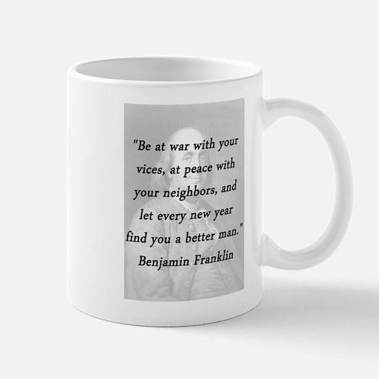 Franklin - War Peace Mug