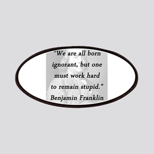Franklin - Born Ignorant Patch