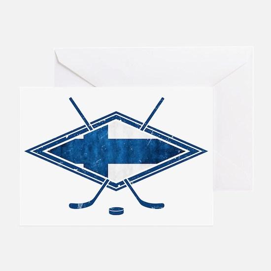 Suomi Jääkiekko Flag Logo Greeting Card
