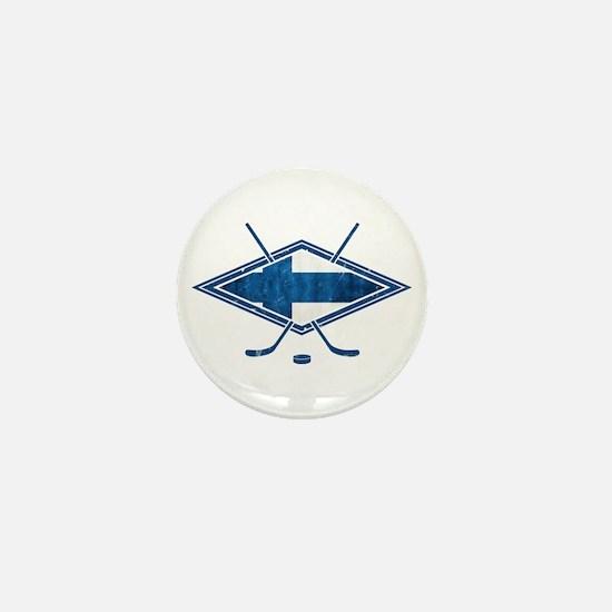 Suomi Jääkiekko Flag Logo Mini Button