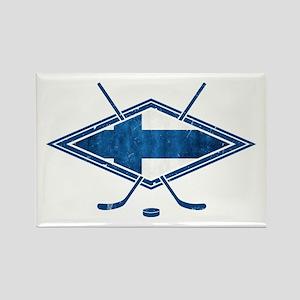 Suomi Jääkiekko Flag Logo Rectangle Magnet