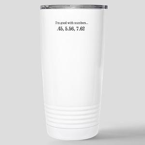 Good with numbers shirt Travel Mug
