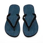 Grungy Blue Diamond Pattern Flip Flops