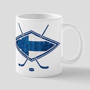 Suomi Jääkiekko Flag Logo Mug