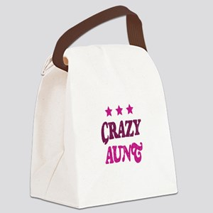 Crazy Aunt Canvas Lunch Bag