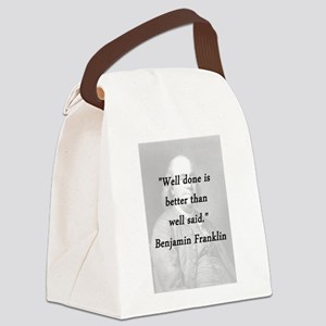 Franklin - Well Done Canvas Lunch Bag