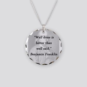 Franklin - Well Done Necklace Circle Charm