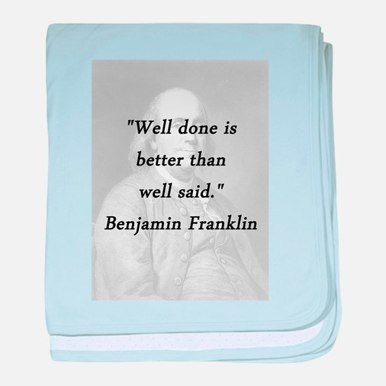Franklin - Well Done baby blanket