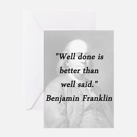 Franklin - Well Done Greeting Card