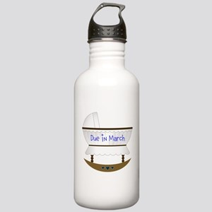 Pink Due In December Stainless Water Bottle 1.0L