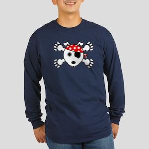 pirate dog Long Sleeve T-Shirt