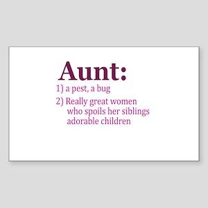 Aunt Definition Pest Spoiler Sticker