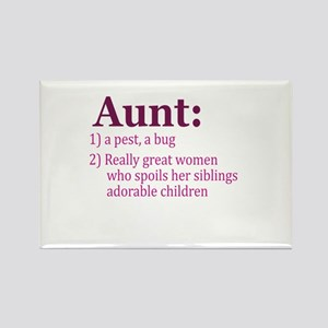 Aunt Definition Pest Spoiler Rectangle Magnet