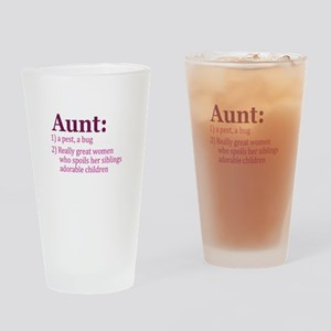 Aunt Definition Pest Spoiler Drinking Glass