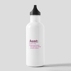 Aunt Definition Pest Spoiler Water Bottle