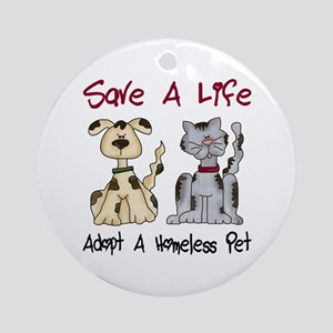 Adopt A Homeless Pet Ornament (Round)