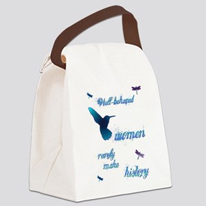 Well-behaved Hummingbird Canvas Lunch Bag