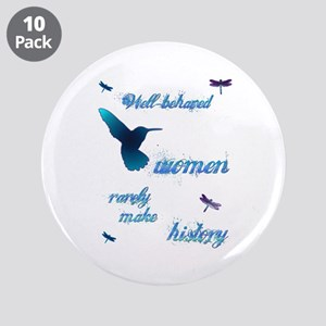 "Well-behaved Hummingbird 3.5"" Button (10 pack)"