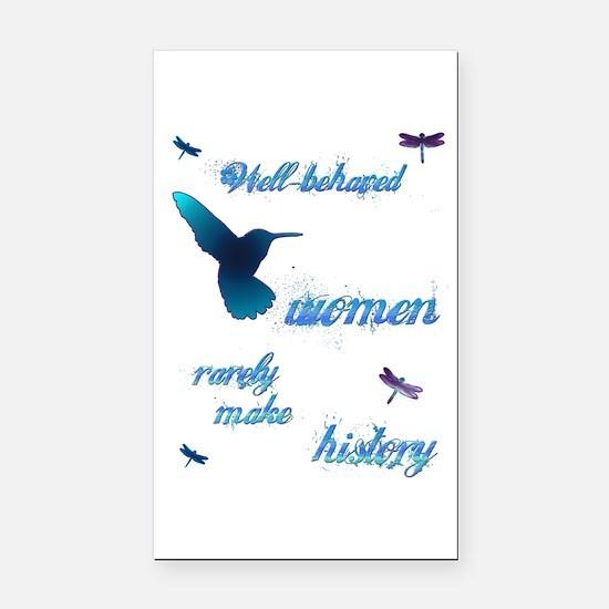 Well-behaved Hummingbird Rectangle Car Magnet