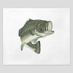 Large Mouth Bass King Duvet