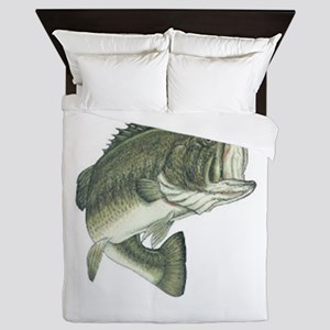 large mouth bass Queen Duvet
