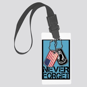 POW/MIA Never Forget Dog Tags Luggage Tag
