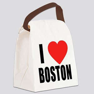 I HEART BOSTON Canvas Lunch Bag