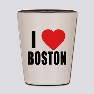 I HEART BOSTON Shot Glass