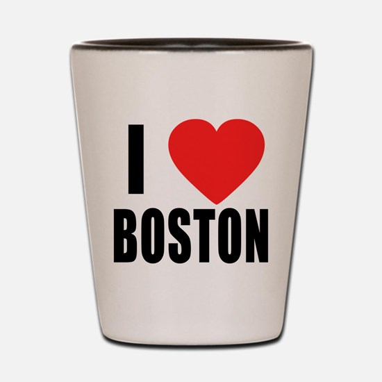 I HEART BOSTON Shot Glass