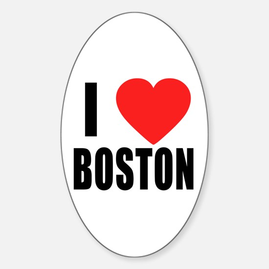 I HEART BOSTON Sticker (Oval)