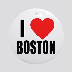 I HEART BOSTON Ornament (Round)