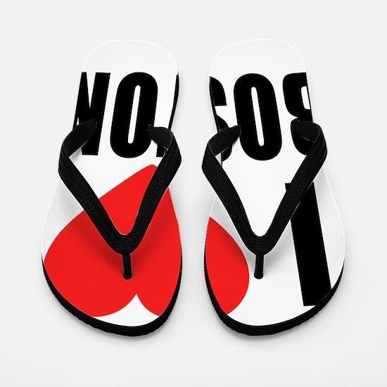 I HEART BOSTON Flip Flops