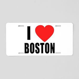 I HEART BOSTON Aluminum License Plate