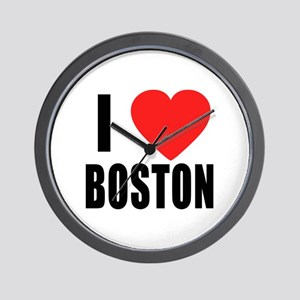 I HEART BOSTON Wall Clock