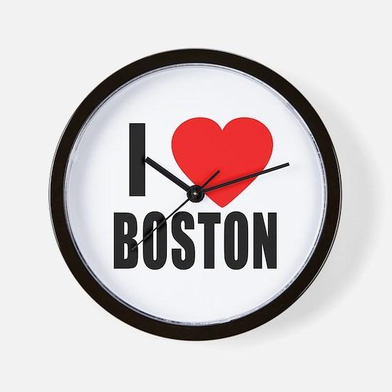 I HEART BOSTON Wall Clock