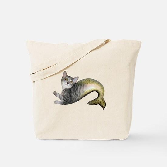 Kitten Fish Tote Bag